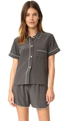 Morgan Lane Flourless Tami Pj Top Charcoal
