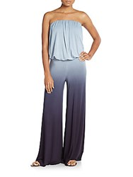 Young Fabulous And Broke Sydney Strapless Ombre Jumpsuit Blue Ombre