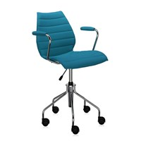 Kartell Maui Soft Swivel Armchair Teal