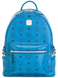 Mcm 'Stark' Small Backpack Blue