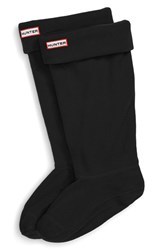 Hunter Women's Original Tall Fleece Welly Boot Socks Black Fleece
