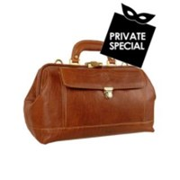 Chiarugi Genuine Italian Leather Doctor Bag Brown