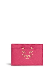 Charlotte Olympia 'Feline' Cat Face Leather Card Holder