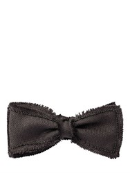 Title Of Work Raw Cut And Beaded Silk Bow Tie