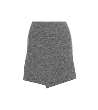 Etoile Isabel Marant Estelle Wool Blend Wrap Skirt Grey
