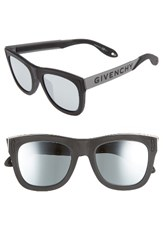 Givenchy Men's 52Mm Gradient Lens Sunglasses Black Silver
