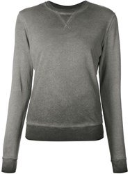 321 Washed Crew Neck Sweatshirt Grey