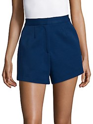 Finders Keepers Solid Flared Shorts Navy