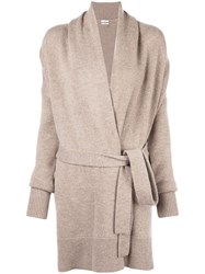 Co Oversized Belted Cardigan Neutrals