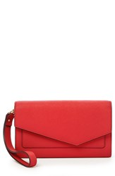 Botkier 'S Cobble Hill Calfskin Leather Wallet Red Poppy