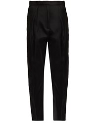 Maison Rabih Kayrouz Pleated Front Tailored Trousers Black