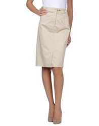 Fay Knee Length Skirts Beige