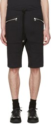 Markus Lupfer Black Zip Pockets Lounge Shorts