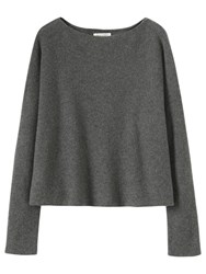 Toast Square Cut Merino Wool Jumper Mid Grey Melange