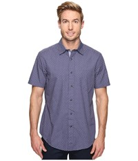 Nautica Short Sleeve Dots Print Shirt Blue Indigo Men's Clothing