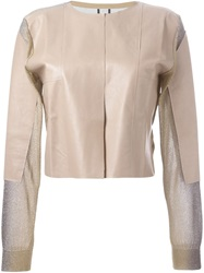 Aviu Panelled Jacket Nude And Neutrals
