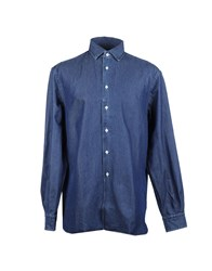 Alain Denim Shirts Blue