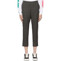 6397 Grey Wool Pull On Trousers