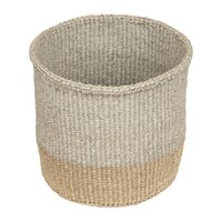 The Basket Room Linear Fusion Mbili Hand Woven Neutral