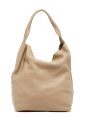 Christopher Kon Unlined Leather Hobo Beige
