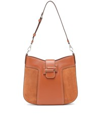 Tod's Double T Hobo Leather Shoulder Bag Brown