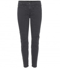 J Brand Ginger Utility Mid Rise Skinny Jeans Grey