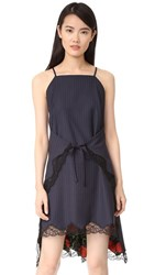 Alexander Wang Flared Apron Dress Navy