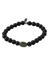 Men's Ettika Onyx And Pyrite Stretch Bracelet
