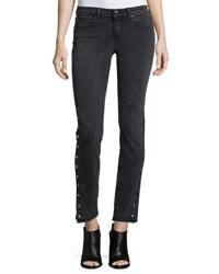 Iro Biba Side Snap Skinny Jeans Black