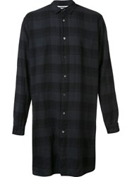 Robert Geller 'The Long Plaid' Shirt Grey