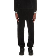 Astrid Andersen Dropped Crotch Velour Jogging Bottoms Black