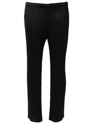 Issey Miyake Pleated Wide Leg Trousers Black