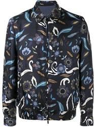 Fendi Reversible Floral Print Jacket Blue