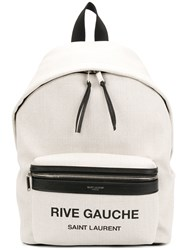 Saint Laurent City Backpack Nude And Neutrals
