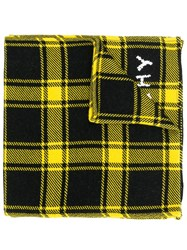 Givenchy Checked Winter Scarf Yellow
