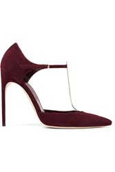 Brian Atwood Astral Suede Pumps Red