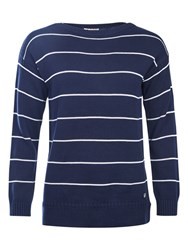 Barbour Barnavle Stripe Jumper Navy Cloud
