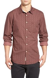 Dockersr Men's Dockers Fitted Washed Print Woven Shirt Washed Red