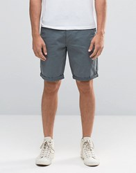 New Look Slim Fit Chino Shorts In Teal Teal Blue