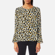 Samsoe And Samsoe Women's Serena Top Leo Jaune Multi