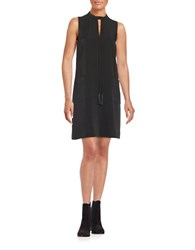 Erin Fetherston Keyhole Crepe Shift Dress Black