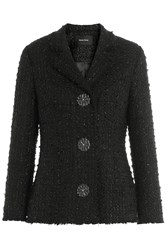 Simone Rocha Metallic Tweed Jacket Black
