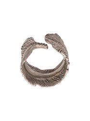 M Cohen M. 14K Feather Ring Silver