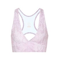 Varley Brooks Printed Sports Bra Pink