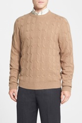 Nordstrom Cable Knit Cashmere Sweater Beige