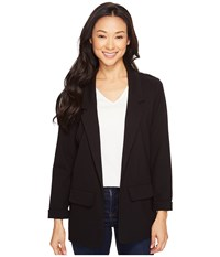 Liverpool Boyfriend Blazer Ponte Knit Black Women's Jacket