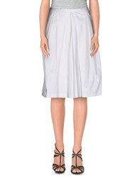 Trussardi Jeans Skirts Knee Length Skirts Women White