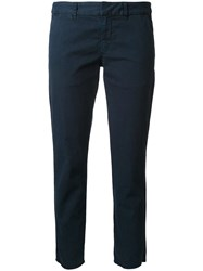 Nili Lotan 'East Hampton' Cropped Trousers Blue