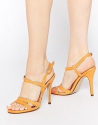 Call It Spring Huguette Orange Strappy Heeled Sandals