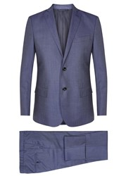 J. Lindeberg Hopper Blue Wool Twill Suit Navy